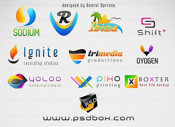 10 colorful logo psd templates hative