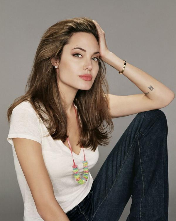 Angelina Jolie Left Arm Tattoo