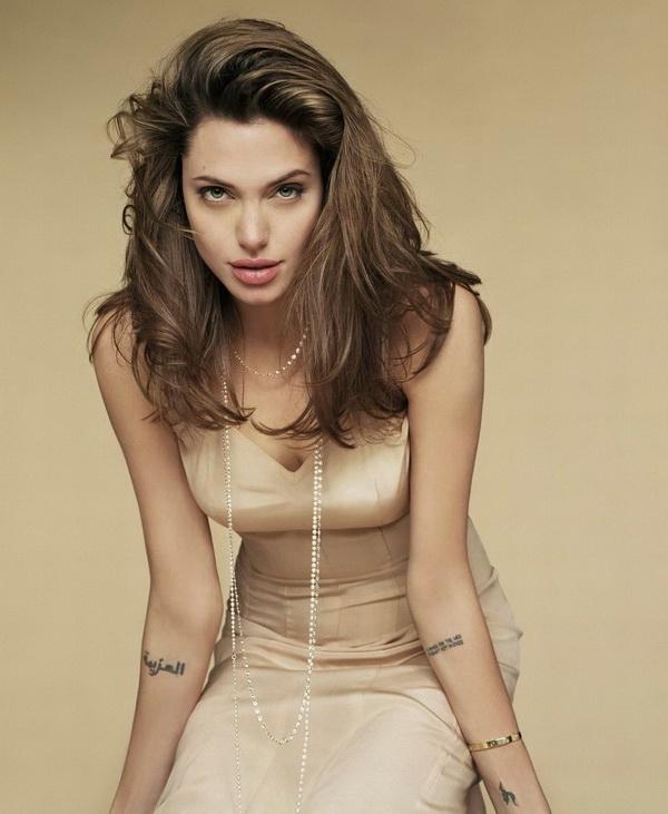 Angelina Jolie Right Arm Tattoo