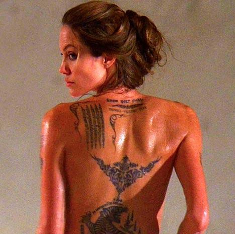 angelina jolie tattoo wanted movie 1