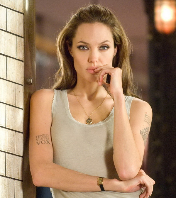 angelina jolie tattoo wanted movie 2