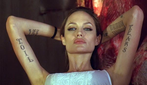 angelina jolie tattoo wanted movie 4