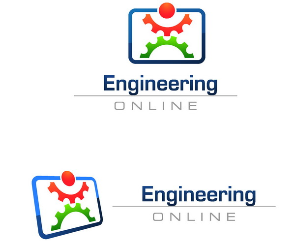Engineering Logo Psd With Gears Hative