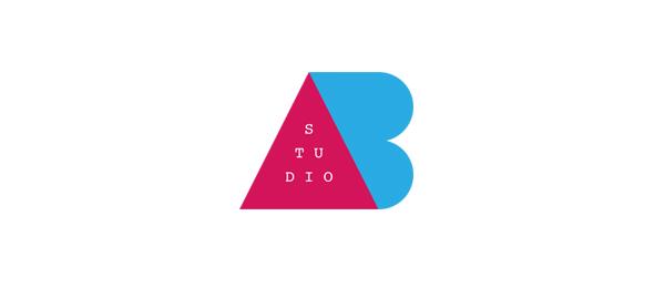 letter a logo abstudio