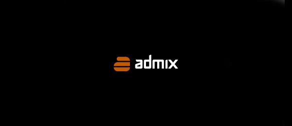 letter a logo admix