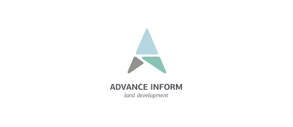 letter a logo advance inform