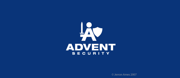 letter a logo advent security
