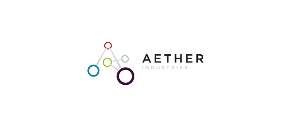 letter a logo aether