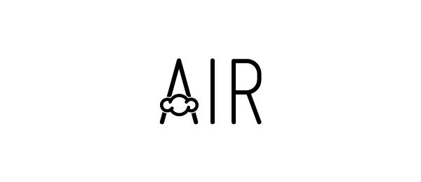 letter a logo air