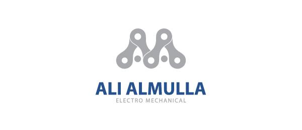 letter a logo ali al mulla electromechanical