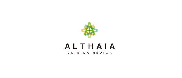 letter a logo althaia