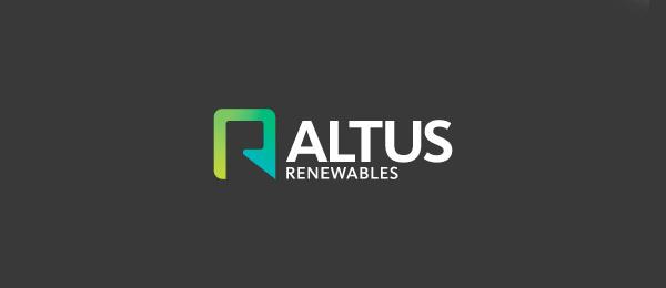 letter a logo altus renewables