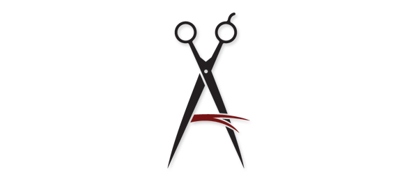 letter a logo amberlee hair design