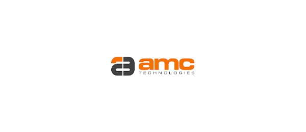 letter a logo amc technologies