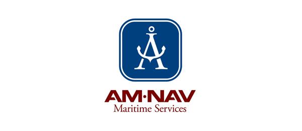 letter a logo amnav maritime