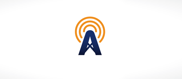 letter a logo amplified
