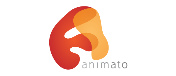 letter a logo animato