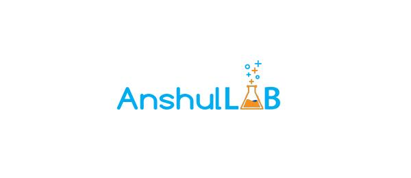 letter a logo anshul lab
