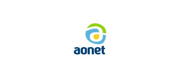 letter a logo aonet