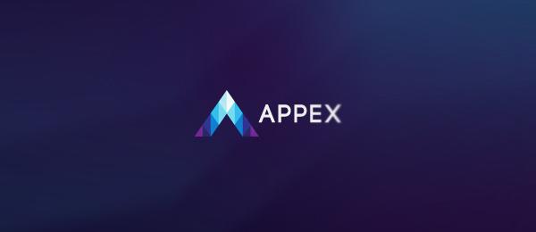 letter a logo appex