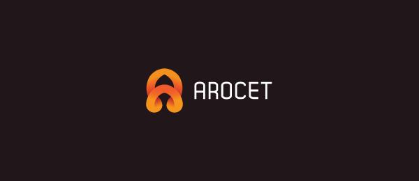 letter a logo arocet