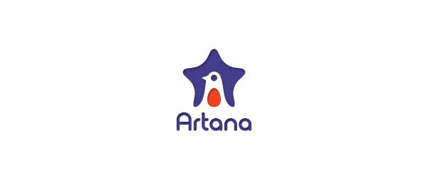 letter a logo artana