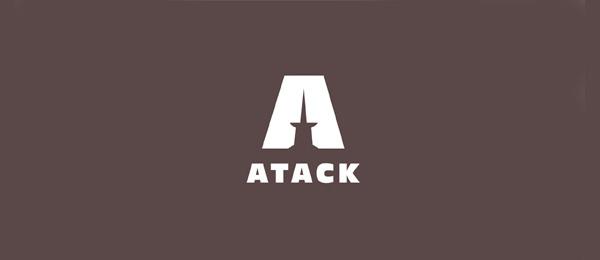 letter a logo atack