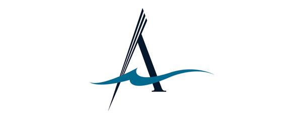 letter a logo atlantis cruises