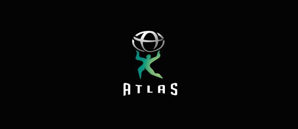 letter a logo atlas