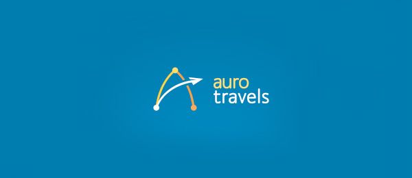 letter a logo auro travels
