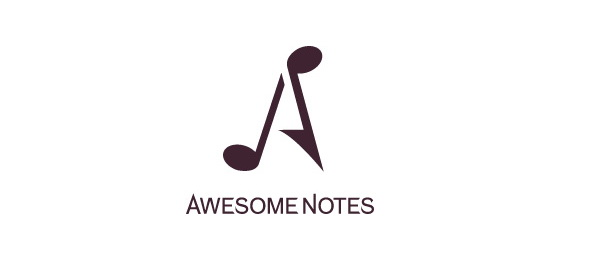 letter a logo awesome notes