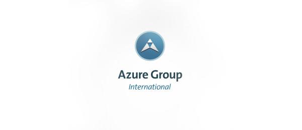 letter a logo azure group