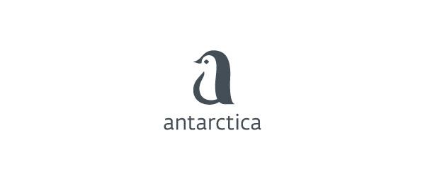 letter a logo penguin antarctica