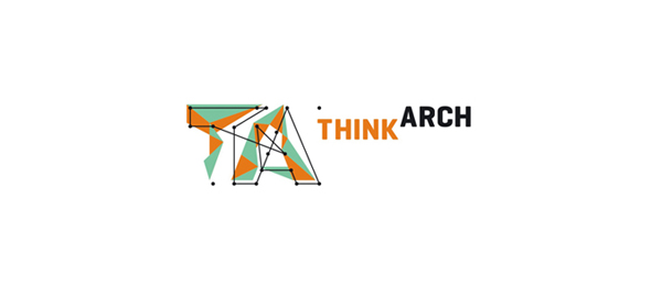 letter a logo thinkarch architecture