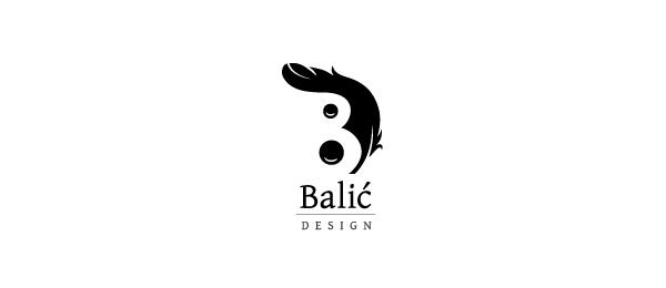letter b logo balic design