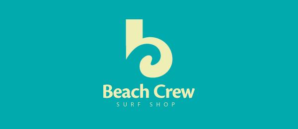 letter b logo beach crew