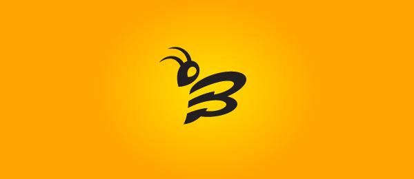 letter b logo bee