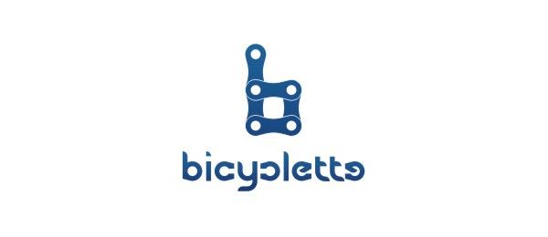 letter b logo bicyc lette