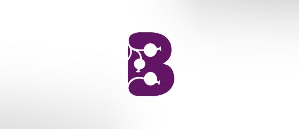 letter b logo blackcurrant