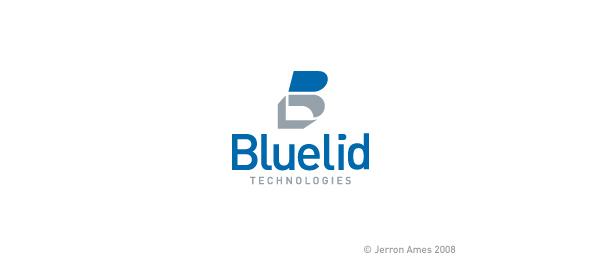 letter b logo blue lid