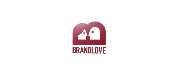letter b logo brand love