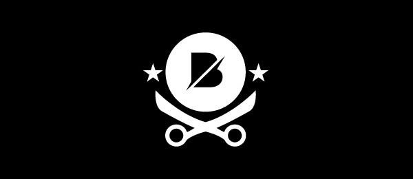letter b logo broadway barber