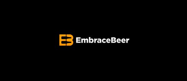 letter b logo embrace beer