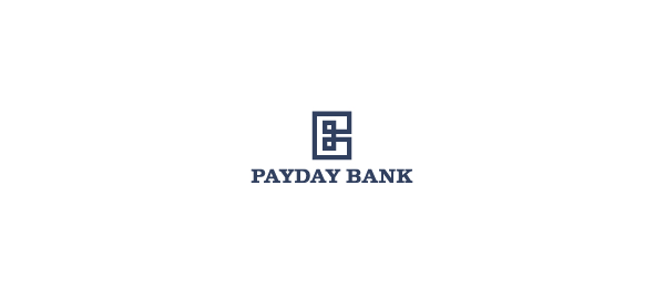 letter b logo payday bank