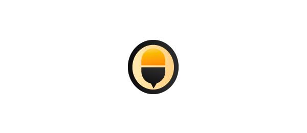 letter b logo vitamin bee