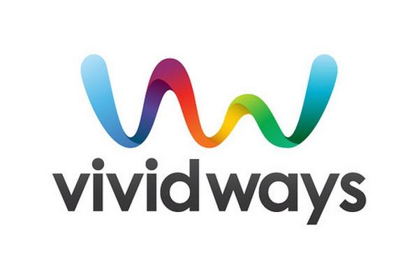 Letter v logo design with ribbon Hative