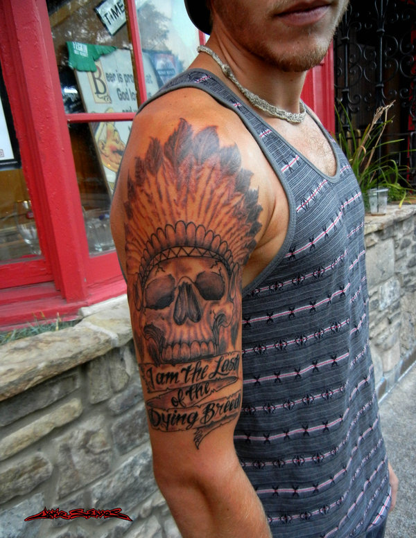 0b3f3c1a56dd5 40 Cool Native American Tattoos Pictures - Hative