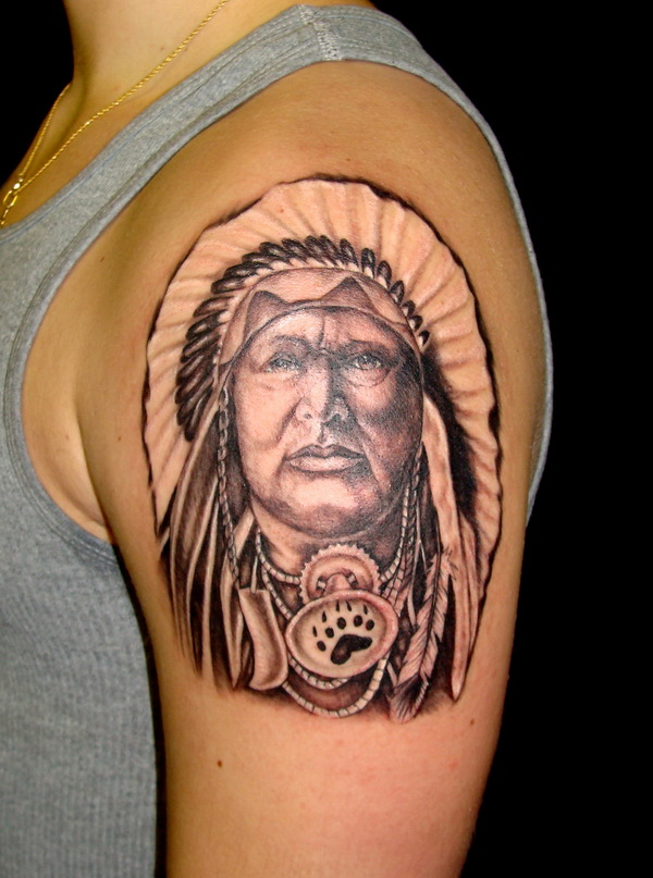 native american chief tattoo 01