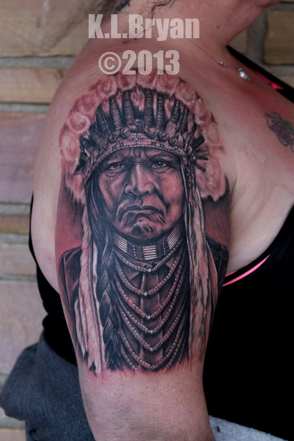 native american chief tattoo 02