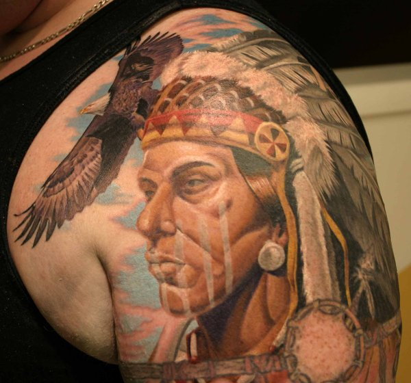native american chief tattoo 03